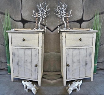 2 x nachttisch nachtschrank kommode used landhaus shabby vintage wei. Black Bedroom Furniture Sets. Home Design Ideas