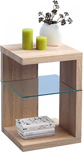 hometrends4you 515742 beistelltisch nachttisch 40 x 60 x 40 cm dekor sonoma eiche. Black Bedroom Furniture Sets. Home Design Ideas