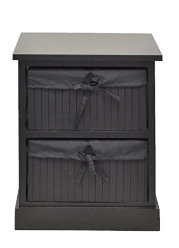 kommode schwarz beistelltisch nachttisch 44 cm k chen. Black Bedroom Furniture Sets. Home Design Ideas