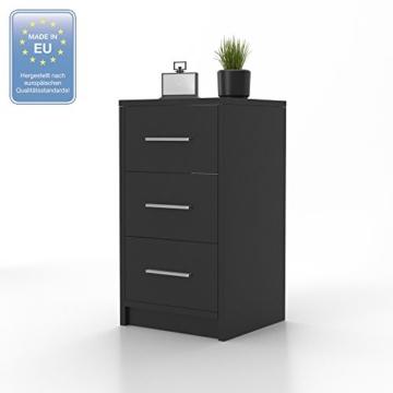 nachtkommode f r boxspringbett nachtschrank nachttisch kommode schrank schwarz. Black Bedroom Furniture Sets. Home Design Ideas