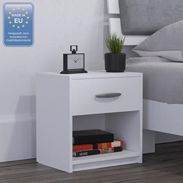 nachtschrank nachttisch kommode schrank schlafzimmer schublade ablage wei. Black Bedroom Furniture Sets. Home Design Ideas
