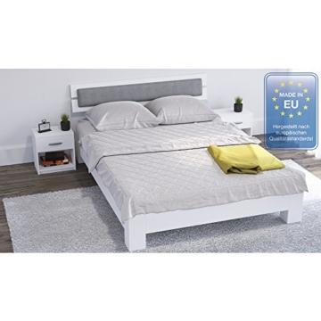 Nachtschrank nachttisch kommode schrank schlafzimmer schublade ablage wei - Ablage schlafzimmer ...