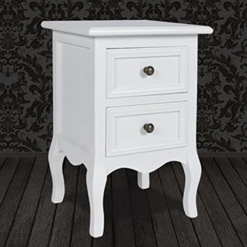 vidaxl nachttisch nachtschr nkchen mit zwei schubladen. Black Bedroom Furniture Sets. Home Design Ideas