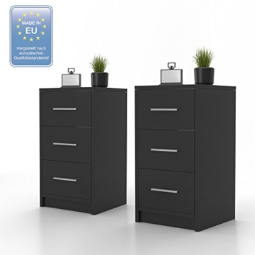 2x nachtkommode f r boxspringbett nachtschrank. Black Bedroom Furniture Sets. Home Design Ideas