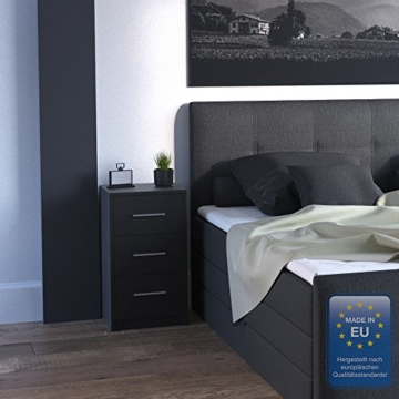2x nachtkommode f r boxspringbett nachtschrank nachttisch kommode schrank schwarz. Black Bedroom Furniture Sets. Home Design Ideas