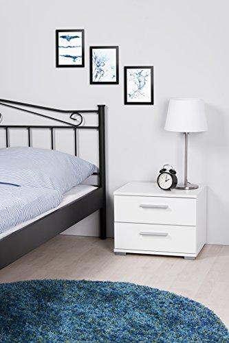 Intertrade 000914 Nachtkommode Komo, 45 x 35 x 34 cm, dekor weiß - 2