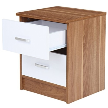 nachttisch nachtschrank kommode jugendstil modern stehend wei eckig holz schublade. Black Bedroom Furniture Sets. Home Design Ideas