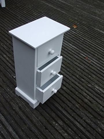 Mini Kommode Kleine Kommode Schmuck Schrank Shabby Chic Eckig Stehend Weiß  Holz Schublade Schränkchen Jugendzimmer Schlafzimmer