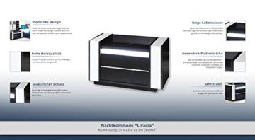 Nachtkommode Modern Schwarz Weiß Holz Schränkchen Schublade ... Jugendzimmer Schwarz Wei