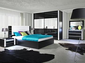 Fesselnd Nachtkommode Modern Schwarz Weiß Holz Schränkchen Schublade Stehend Eckig  Schlafzimmer Jugendzimmer