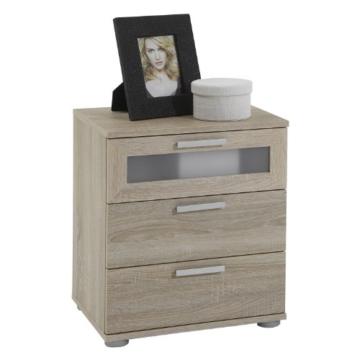 Nachtkonsole modern klassisch Jugendstil braun eckig Holz stehend Schränkchen Schublade Schlafzimmer Jugendzimmer Kinderzimmer -