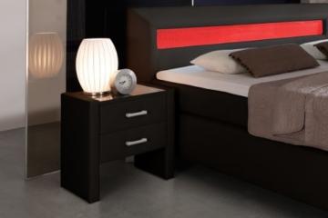 Nachtkonsole modern klassisch schwarz eckig Holz stehend Schränkchen Schublade Schlafzimmer Jugendzimmer -