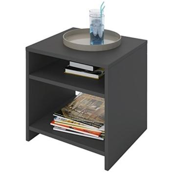 nachttisch modern jugendstil klassisch anthrazit eckig stehend holz offen schlafzimmer. Black Bedroom Furniture Sets. Home Design Ideas