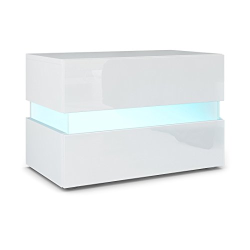 Nachttisch Mit Beleuchtung nachttisch nachtkonsole modern jugendstil weiß holz stehend eckig