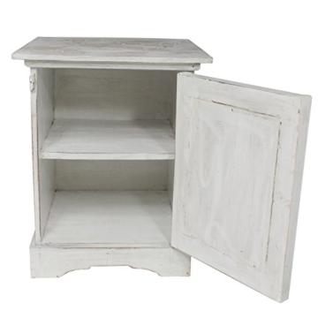nachttisch mit blumen schnitzereien schr nkchen schrank nachtschrank rustikal wei ca 50 cm. Black Bedroom Furniture Sets. Home Design Ideas