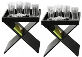 2er Set Beistelltische Egon schwarzen aus Holz -