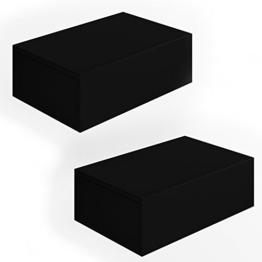 2x Nachttisch Kommode Nachtschrank Schublade Ablage Schrank Schlafzimmer Schwarz -