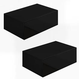2x Nachttisch Kommode Nachtschrank Schublade Ablage Schrank Schlafzimmer Schwarz Hochglanz -