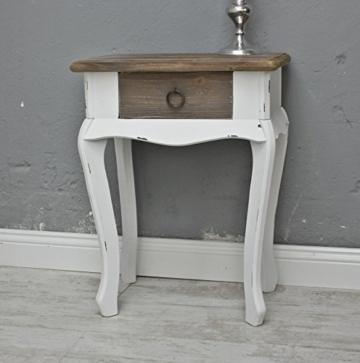elbm bel nachttisch in wei braun aus holz im landhaus. Black Bedroom Furniture Sets. Home Design Ideas