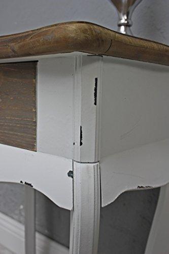 elbm bel nachttisch in wei braun aus holz im landhaus stil 57cm. Black Bedroom Furniture Sets. Home Design Ideas