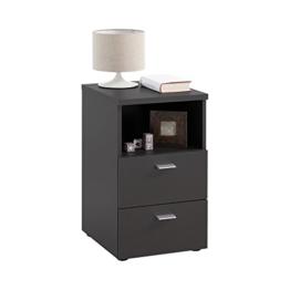 FMD Möbel Colima 1 Nachtkonsole, Holz, schwarz, 35 x 40 x 61.5 cm -
