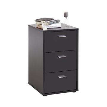 FMD Möbel Virginia 1 Nachtkonsole, Holz, schwarz, 35 x 40 x 62.5 cm -