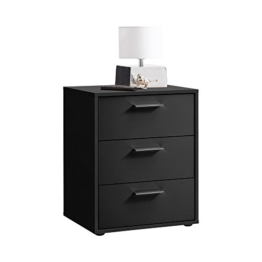 FMD Möbel Virginia 2 Nachtkonsole, Holz, schwarz, 49.5 x 40 x 62.5 cm -