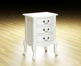 French Antik Weiß Charlotte Nachttisch mit 3Schubladen -