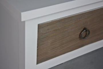 Kommode weiß HOLZ braun antik Landhaus Nachtschrank Nachttisch Sideboard Schrank -