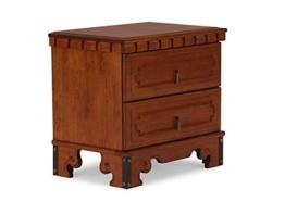 massivum Beistelltisch Byzanz 60x56x40 cm Rubberwood braun gebeizt und lackiert -