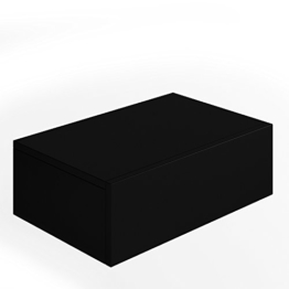 Nachttisch Kommode Nachtschrank Schublade Ablage Schrank Schlafzimmer Schwarz -