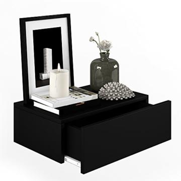 nachttisch kommode nachtschrank schublade ablage schrank schlafzimmer schwarz. Black Bedroom Furniture Sets. Home Design Ideas