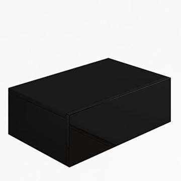 Nachttisch Kommode Nachtschrank Schublade Ablage Schrank Schlafzimmer Schwarz Hochglanz -