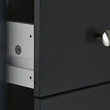 NJA Furniture Nachttisch Shaker mit 3 Schubladen. Schwarz lackiert, 40x40x60cm schwarz -