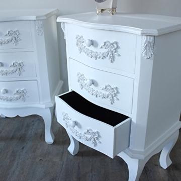 pays blanc range m bel bundle paar antik wei. Black Bedroom Furniture Sets. Home Design Ideas