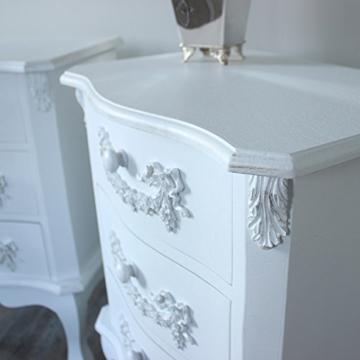 Pays Blanc Range – Möbel Bundle, Paar Antik Weiß Nachttisch mit 3 ...