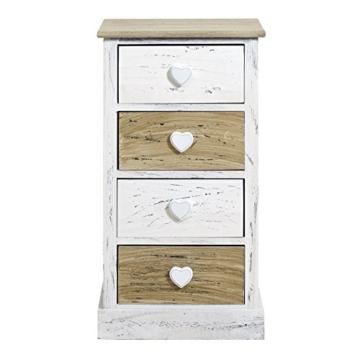 rebecca srl nachttisch nachtschrank nachtk stchen kommode 4 schubladen paulownienholz wei. Black Bedroom Furniture Sets. Home Design Ideas