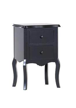 Stylefurniture 61628/10 Beistellkommode, Holz, schwarz, 43.0 x 32.0 x 66.0 cm -