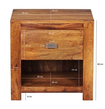 affordable wohnling nachttisch massivholz sheesham cm schublade ablagefach echtholz dunkelbraun with kommode holz dunkel